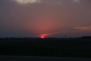 Sunset ~ 4:35 pm (cst)
