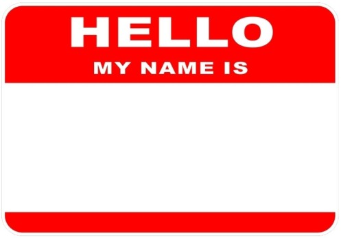 Label label label recesstec for Hello my name is nametag template