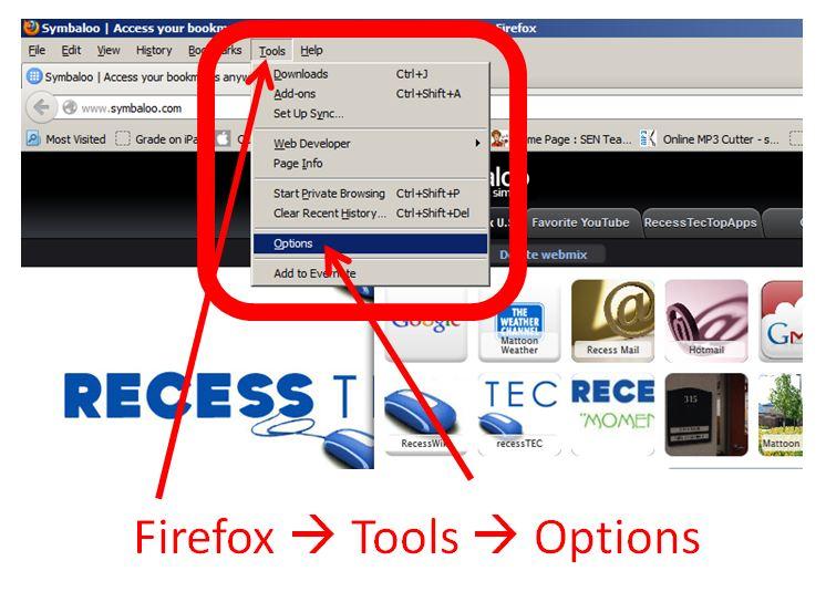Firefox Step 1